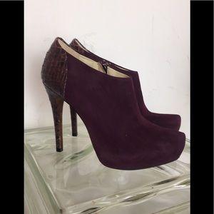 Alexandre Birman Shoes - Alexandre Birman Purple Suede & Python Boots 8